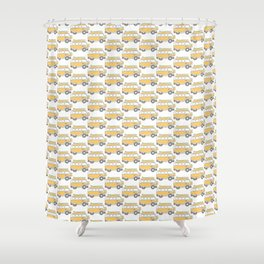 The Surf Life | Yellow Adventure Bus Shower Curtain