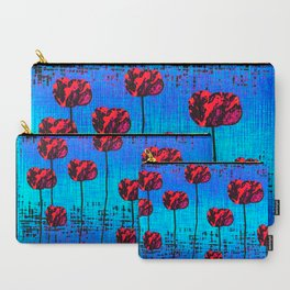 Street Art Pop Poppies Carry-All Pouch
