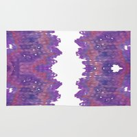 geode Area & Throw Rugs featuring Fabric Geode 2 by Pamela Kummerle