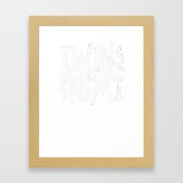 Twins-Since-1971---46th-Birthday-Gifts Framed Art Print