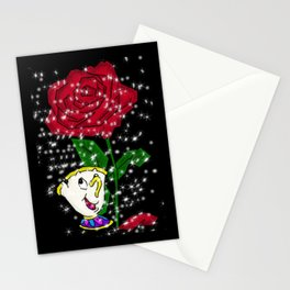 Rose and chip Stationery Cards
