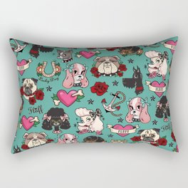 Tattoo Dogs Rectangular Pillow