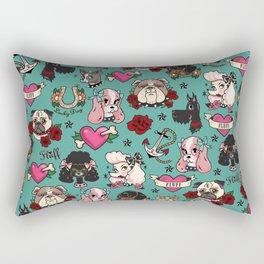 Tattoo Dogs Rectangular Pillow