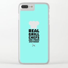Real Grill Chefs are from Amsterdam T-Shirt Dl267 Clear iPhone Case