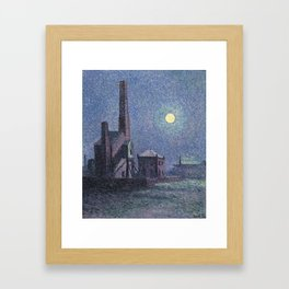 Factory in the Moonlight Maximilien Luce Framed Art Print