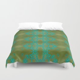 Turquoise lace Duvet Cover