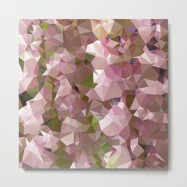 Lavender Rose Pink Abstract Low Polygon Background Metal Print