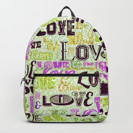 Vintage Love Words Backpack