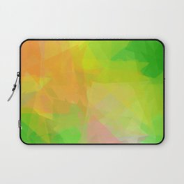 Triangle Pattern Tropical Colors, Green Yellow Design Laptop Sleeve