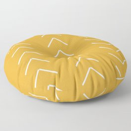 V / Yellow Floor Pillow