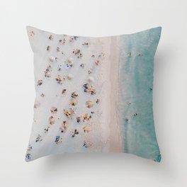 summer beach iii Throw Pillow