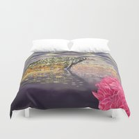 theatre Duvet Covers featuring China's National Theatre by TheGreatPretender