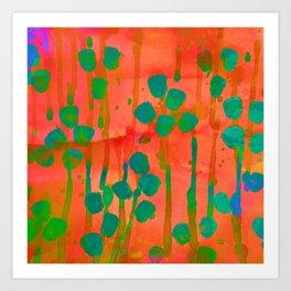 Orange & Teal Affair Art Print