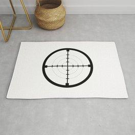 sniper black finder target symbol bull eye Rug