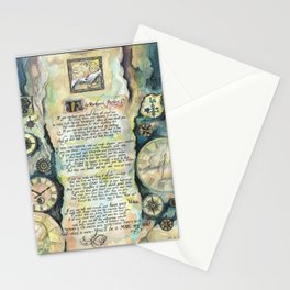 "Calligraphy of the poem ""IF"" by Rudyard Kipling Stationery Cards"