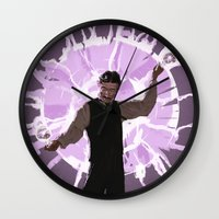 tesla Wall Clocks featuring Tesla by Todd A. Winter
