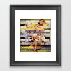 Glitch Pin-Up Redux: Isabella Framed Art Print