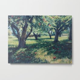Corrales Apples Orchard Metal Print