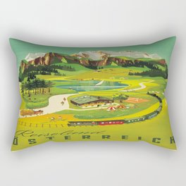 Vintage poster - Austria Rectangular Pillow