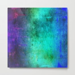 Abstract Coding Metal Print