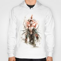 ghost Hoodies featuring GHOST by AkiMao
