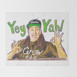 Customgrow420 YEY-YAH! Oil Pastel & Acrylic Throw Blanket