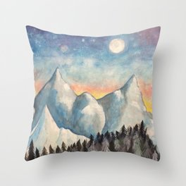With How Sad Steps, Oh Moon Throw Pillow