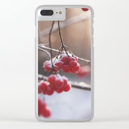 The Red Of Winter Clear iPhone Case