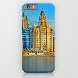 Water front Liverpool (Digital Art) iPhone Case