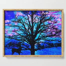 TREES AND STARS Serving Tray