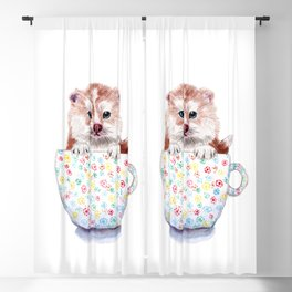 Baby Pomsky in Teacup Blackout Curtain