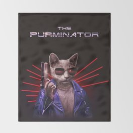 The Purminator Throw Blanket