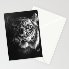 """""""White Tiger"""" Drawing Stationery Cards"""