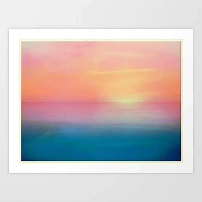 Ombre Sunset Art Print By Milesphotography Society6