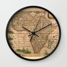 Map Of Africa 1641 Wall Clock