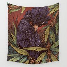 Black Cockatoo Wall Tapestry