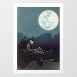 Cowboy's Song Book Art Print