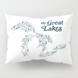 The Greatest Lakes Pillow Sham