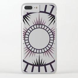 Minimalist Radial mandala Clear iPhone Case