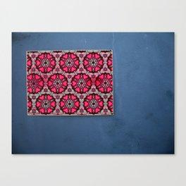 Romany Love 510 on blue wall Canvas Print