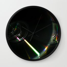 Stack of Compact Discs Abstract 8 Wall Clock