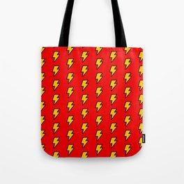 Cartoon Lightning Bolt pattern Tote Bag
