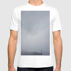 moody + dramatic MEDIUM Mens Fitted Tee White