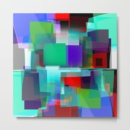 color boxes pinched Metal Print