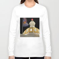 denver Long Sleeve T-shirts featuring Denver Capitol  by Andrew C. Kurcan