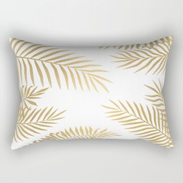 Gold palm leaves Rectangular Pillow