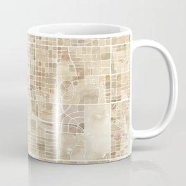 Tucson Arizona watercolor city map Coffee Mug