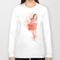 flora Long Sleeve T-shirts featuring Flora by Anne Cresci