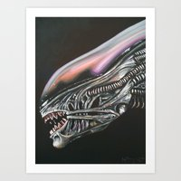 xenomorph Art Prints featuring Xenomorph by Hillary White