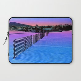 Fences on a winter sundown Laptop Sleeve